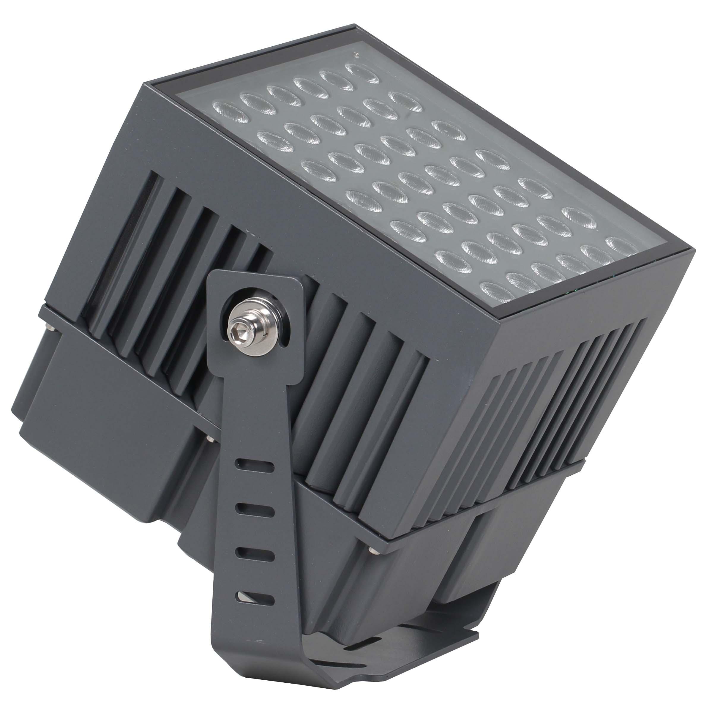 Светодиодный архитектурный прожектор с массивным радиатором и вторичной оптикой